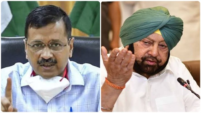 Arvind Kejriwal hits out at Punjab CM after he accused him of notifying farm laws