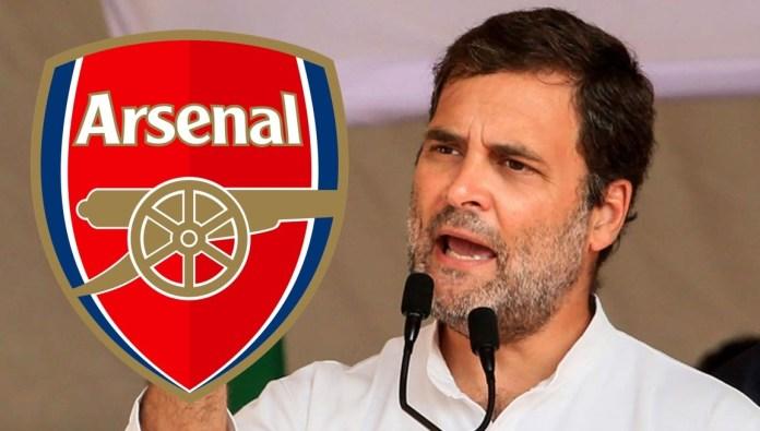 Rahul Gandhi to replace Arteta as manager of Arsenal football club [Satire]