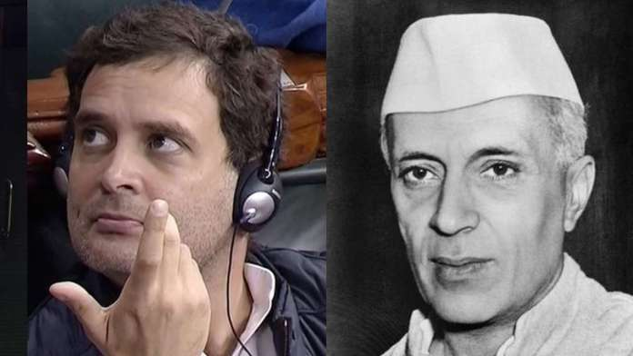 Rahul Gandhi's great grandfather Nehru too was reportedly opposed to the Indian Army