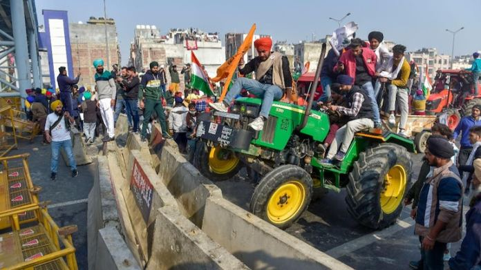 Left-leaning liberals justify and hail violence and vandalism during the tractor rally by farmers