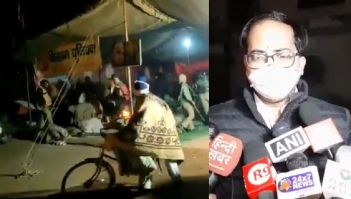 UP police says they peacefully removed protestors from Delhi border