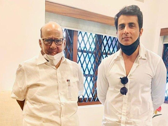 Sonu Sood meets Sharad Pawar
