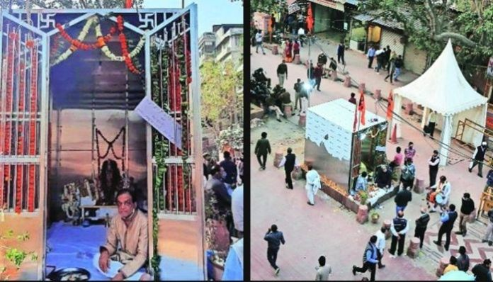 Delhi: Locals erect Hanuman Temple in Chandni Chowk, BJP-AAP supports move