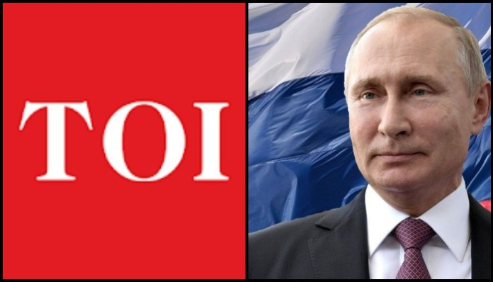 Times of India hails Russian rebel leader Navalny, criticises 'Putinist model' to pull India down, apologises to Russia