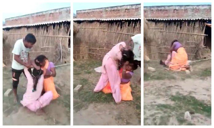 women fighting in UP