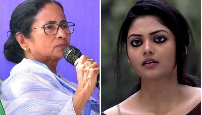TMC candidate Saayoni Ghosh runs after being harassed by party workers