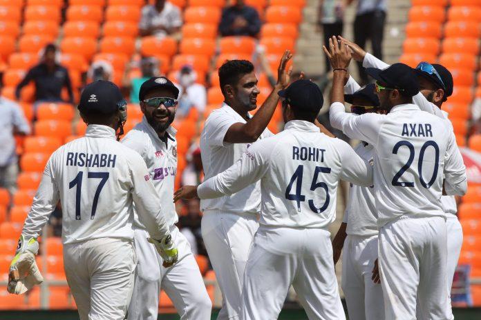 India wins 4th test versus England