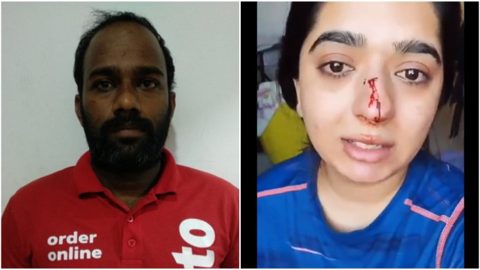 Bengaluru: Suspended Zomato delivery agent says the customer had hit him  with a slipper, her injury was due to her own ring