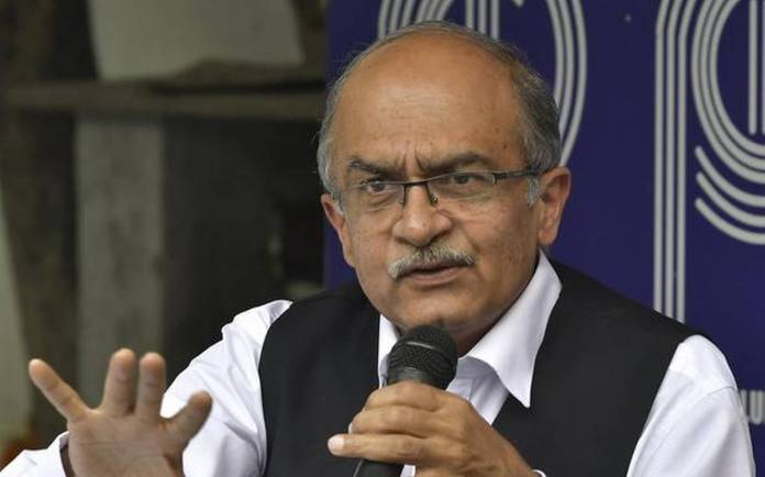 Prashant Bhushan spreads anti-mask study