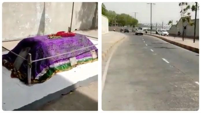 Social media users claim a dargah had been constructed along the Sabarmati riverfront in Ahmedabad