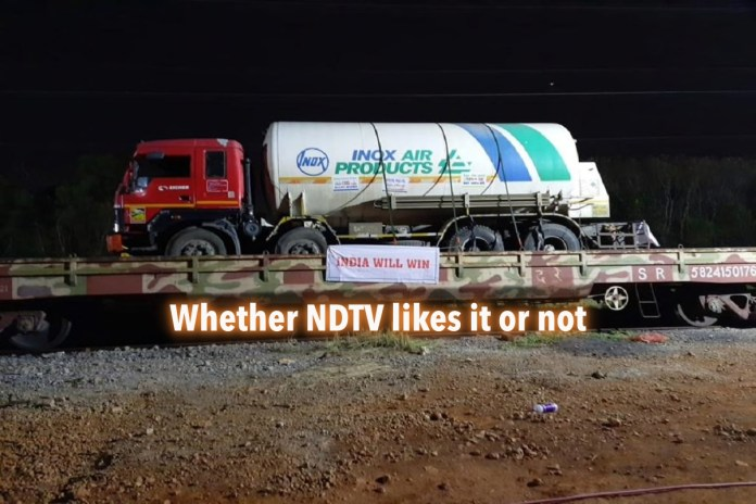 NDTV journalist casts aspersion on Modi govt transporting oxygen tankers via train: Here are the facts that they forgot to consider