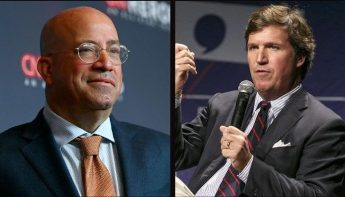 Tucker Carlson asks CNN President to 'transition' to solve toxic masculinity