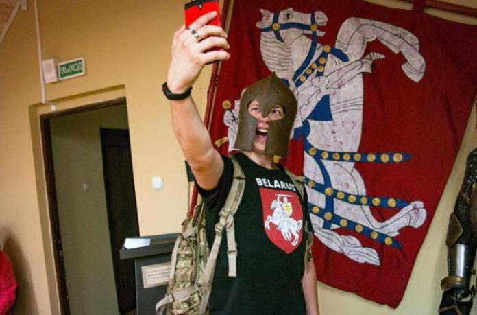 Roman Protasevich as a 'Belarusian Knight'