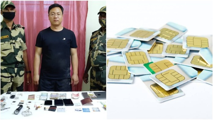 Chinese spy smuggles Indian SIMS
