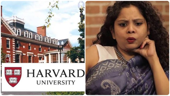 Journalist Rana Ayyub speaks to students of Harvard University which is funded by China and Soros