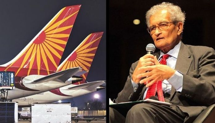 Amartya Sen travelled for free on Air India flights between 2015-2019: RTI