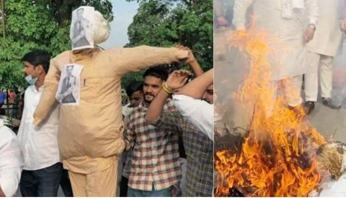 Effigy of Akshay Kumar burnt over name of upcoming movie 'Prithviraj'