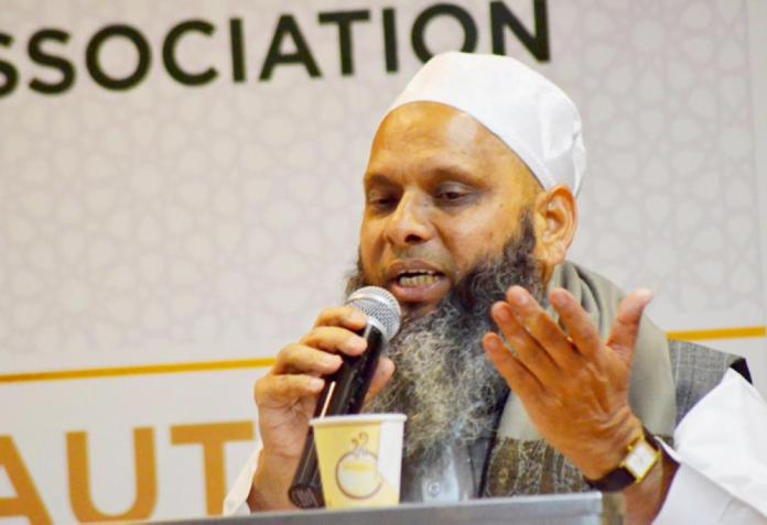 Umar Gautam was felicitated by the Aligarh Muslim University alumni for his efforts to convert people into Islam