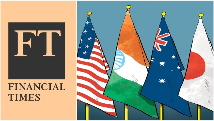 FT article calls India as the 'weakest link' in the Quad. Another sample of the western media's myopic prejudice against India