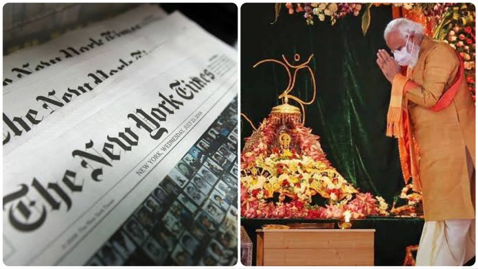 A host of articles published on New York Times betrays its inherently anti-Modi and anti-Hindu slant
