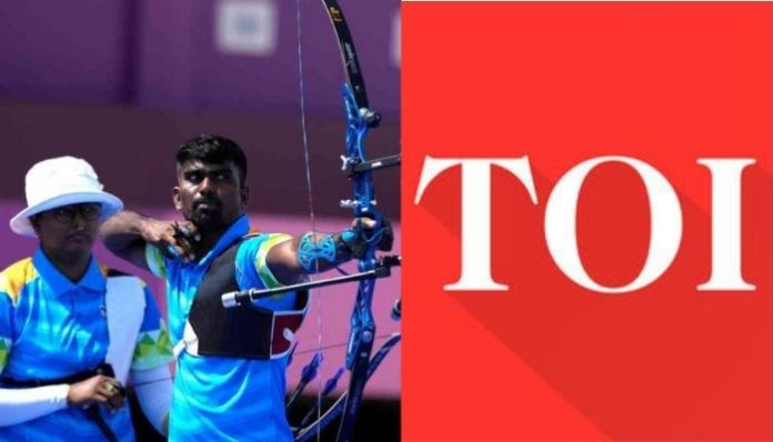 Times of India publishes despicable headline mocking Indian archers after they fail to qualify at Olympics