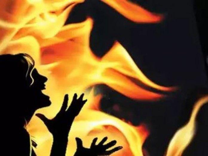 Wife burnt alive