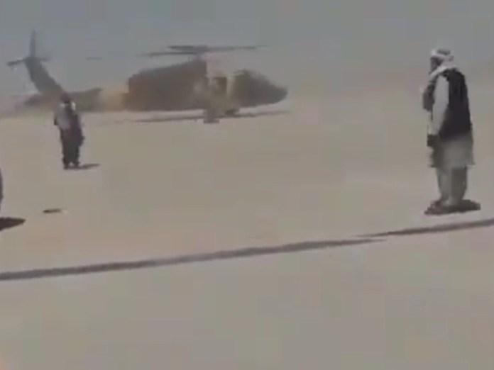 Taliban riding Blackhawk around Kandahar airport