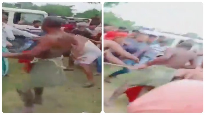 A seer was mercilessly thrashed by locals in Bihar's West Champaran