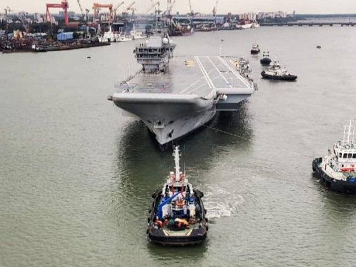 INS VIkrant starts sea trials