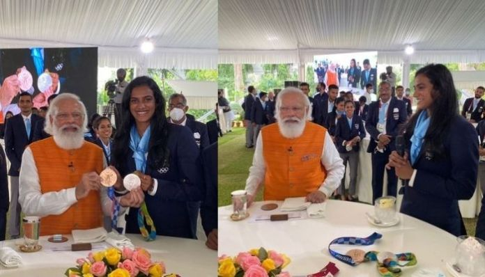 PM Modi keeps his promise, treats shuttler PV Sindhu with ice-cream