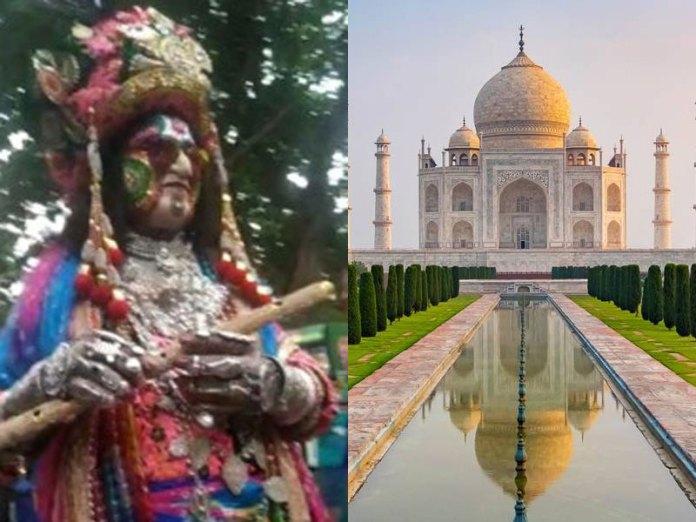 Man dressed as Krishna stopped from entering Taj Mahal premises