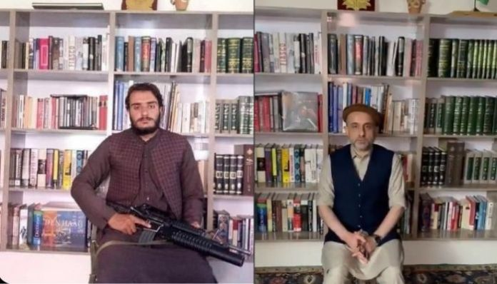 Taliban captured the library in Panjshir from where Amrullah Saleh last spoke