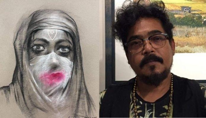 Artist slammed online for portraying Goddess Durga in hijab
