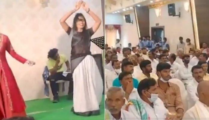YSR party event has a large crowd and 'Naagin dance' while YSR govt imposes ban on Ganesh Puja