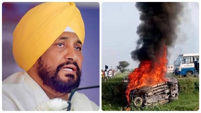 Charanjit Singh Channi(L) seeks to exploit Lakhimpur violence to push against farm laws