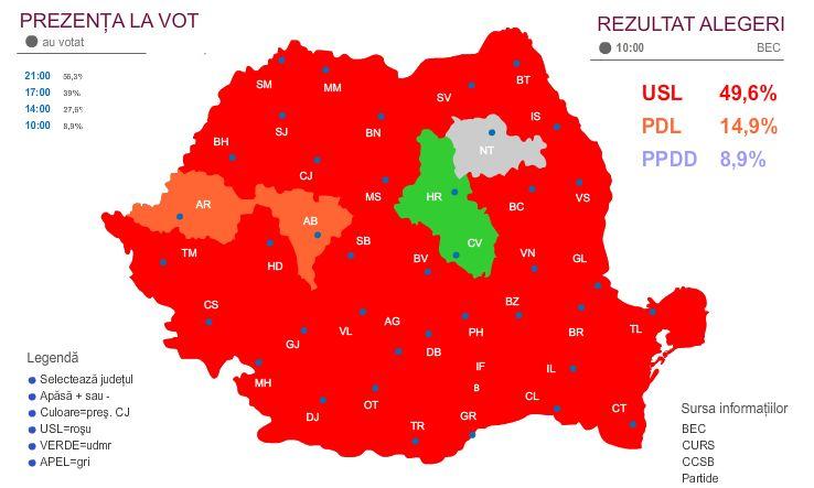 Cod Rosu Harta Romaniei S A Inrosit Dupa Alegerile Locale Din 10