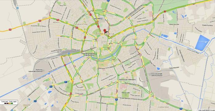 A Aparut Harta Care Ne Arata Traficul Din Timisoara In Timp Real Care