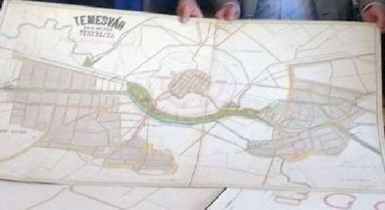 Harta Sistemului De Canalizare Din Timisoara La 1895 Primita Cadou