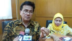 Kepala Dinas kesehatan Kabupaten Bandung, Dr. H. Achmad Kustijadi, M.Epid. ( foto/ saufat endrawan/ opininews.com )