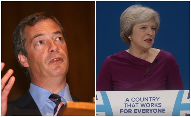 Regno Unito: Nigel Farage, Theresa May