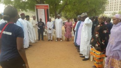 Members of the Bring Back Our Girls Group, Parents and Religious leaders, commemorating 2 years since 29 Buni Yadi schoolboys were killed by Boko Haram.