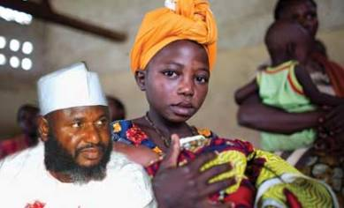 Senator Sani Yerima and little pregant children