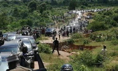 Governor Masari and his entourage visiting bandits camp