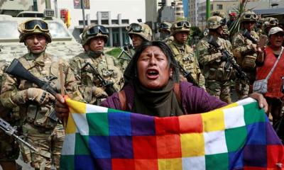 Clashes erupted between supporters of former Bolivian President Evo Morales and the security forces in La Paz Bolivia