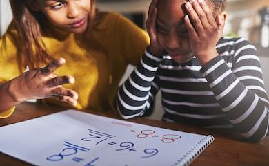mother learning child calculate looking 260nw 435546286