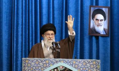 Supreme Leader Ali Hosseini Khamenei delivered a sermon during Friday prayers at Imam Khomeini Grand Mosque in Tehran on January 17 2020