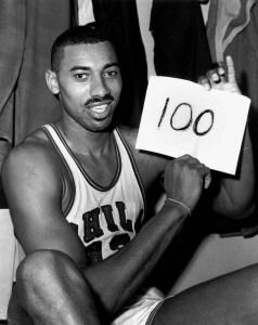Wilt Chamberlain Scores 100 Points
