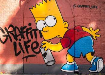 Bart Simpson Graffiti de MsSaraKelly en Flickr.
