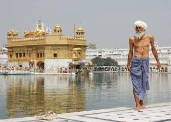 Sikh Pilgrim at Golden Temple
