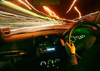 Driving through the night. Picture: Alan Cleaver